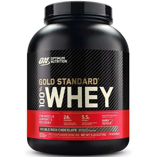 Optimum Nutrition (ON), Gold Standard 100% Whey, Double Rich Chocolate 5 Lbs in Bangladesh