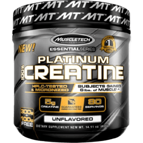 MuscleTech Essential Series Platinum 100% Micronized Creatine Powder Unflavored 400g (80 Servings) in Bangladesh