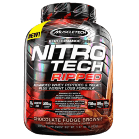 Muscletech Nitro Tech Ripped Ultimate Protein + Weight Loss Formula Chocolate Fudge Brownie 4 lbs in Bangladesh