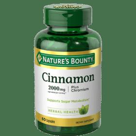 Nature's Bounty, Cinnamon Plus Chromium, 2,000 mg, (60 Capsules) in Bangladesh
